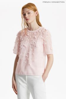 French Connection Pink Agnes Floral Top