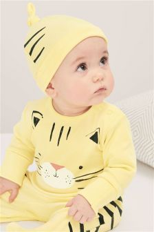 Cat Sleepsuit And Hat (0mths-2yrs)