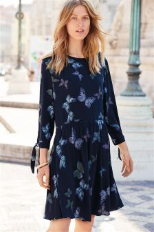 Tie Sleeve Dress