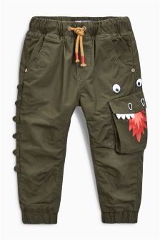Lined Dragon Pull-On Trousers (3mths-6yrs)