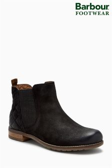 Barbour® Black Abigail Quilted Gusset Ankle Boot