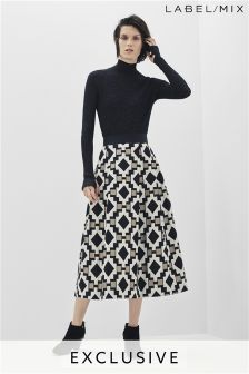 Mix/Teatum Jones Metallic Jacquard Skirt