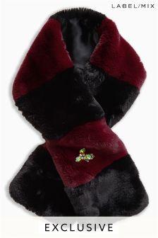 Mix/A V Robertson 3D Embellished Faux Fur Scarf