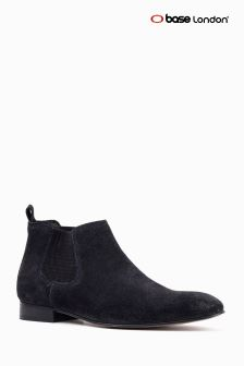 Base London Navy Broker Chelsea Boot
