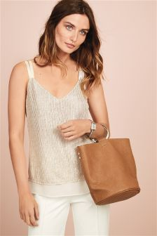 Metallic Layer Cami Top