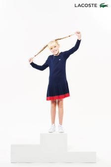 Lacoste® Navy Pleated Dress