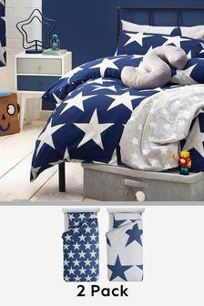 2 Pack Stars Bed Set
