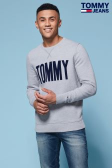Tommy Hilfiger Denim Grey Logo Sweatshirt