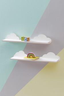 Set of 2 Cloud Shelves