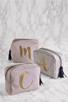 Large Alphabet Cosmetic Bag