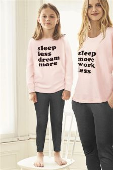 Dream Slogan Legging Pyjamas (3-16yrs)