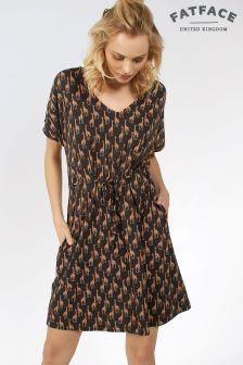 Fat Face Phantom Eliza Giraffe Dress