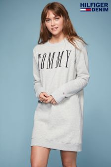Tommy Hilfiger Denim Grey Sweatshirt Dress