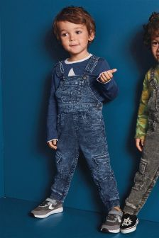 Jersey Denim Dungarees (3mths-6yrs)