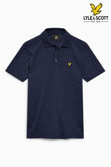 Lyle & Scott Dot Print Poloshirt