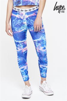 Hype Blue Print Legging