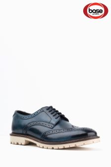 Base London Blue Raid Brogue Shoe