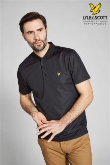 Lyle & Scott Golf Black/Grey Micro Stripe Polo