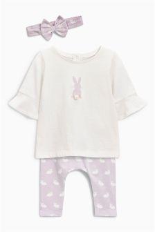 Bunny Three Piece Set (0mths-2yrs)