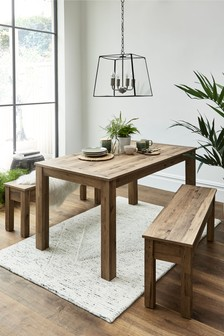 Bronx Dining Table And Bench Set