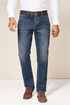 mens straight fit jeans stretch amp belted straight jeans