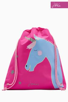 Joules Pink Unicorn Drawstring Bag
