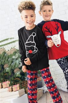 Check Santa Pyjamas (3-16yrs)
