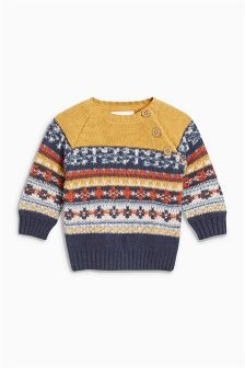 Fairisle Pattern Jumper (0mths-2yrs)