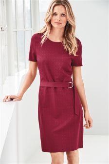 Belted Workwear Dress