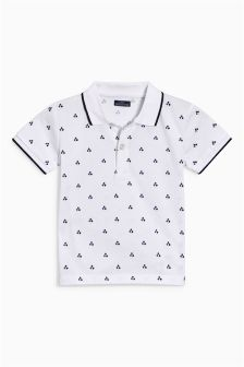 Geo Print Short Sleeve Polo (3mths-6yrs)