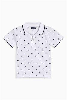 Geo Print Short Sleeve Polo (3mths-6yrs)