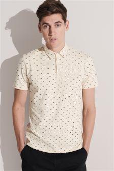 Shark Print Poloshirt