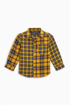 Double Cloth Spliced Check Shirt (3mths-6yrs)