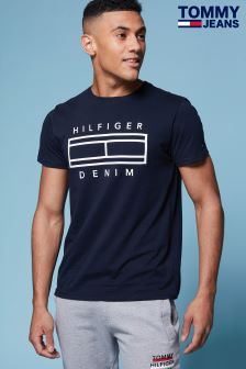 Tommy Jeans Blue Organic Cotton Tee