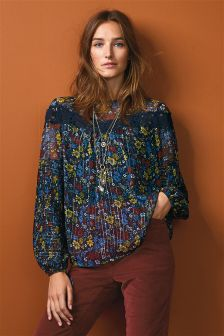 Metallised Fabric Blouse