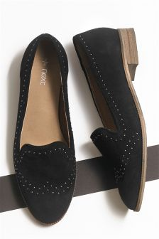 Studded Suede Slippers