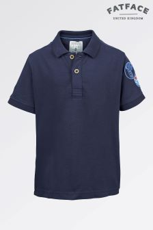 Fat Face Mid Navy Badge Polo