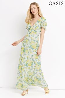 Oasis White Summer Blossom Maxi Dress