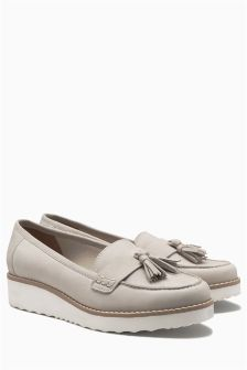Sporty Tassel Loafers