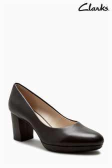 Clarks Black Keida Hope Court Shoe