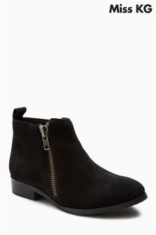 Miss KG Black Spitfire Zip Ankle Boot