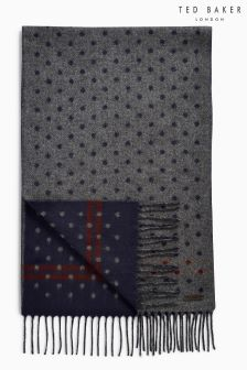 Ted Baker Grey Redpine Spot Scarf