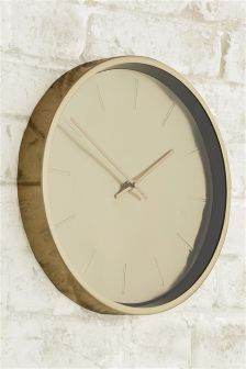 Gold Effect Clock