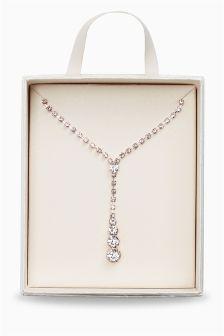 Jewelled Y-Drop Necklace