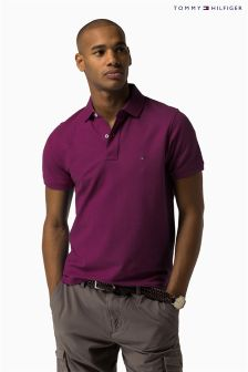 Tommy Hilfiger Purple Performance Poloshirt