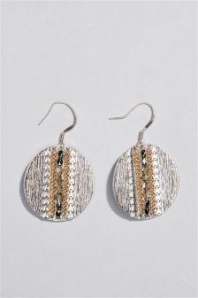 Organic Disc Drop Earrings