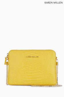 Karen Millen Yellow Chain Handle Small Bag