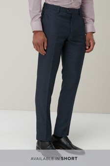 Check Slim Fit Suit: Trousers
