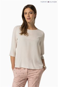 Tommy Hilfiger White Assandra 3/4 Top