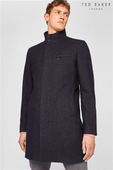Ted Baker Navy Wool Coat